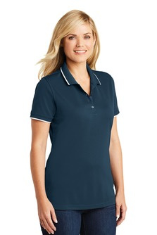 NEW! Ladies dry zone UV tipped polo with embroidered logo