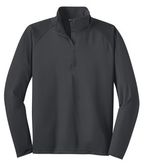 Men's 1/4 zip performance pullover with embroidered logo