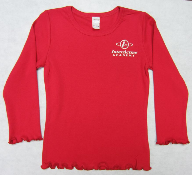 Girl's Long Sleeve Frill Sleeve T-Shirt with InterActive Logo