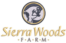 Sierra Woods logo for polos and pullovers