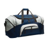 Colorblock sport duffel with embroidered logo